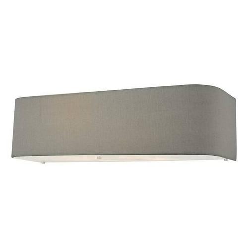Dar Lighting Ronda 2 Light Grey Faux Silk Shade Wall Light