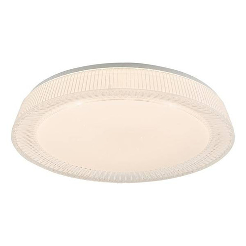 Dar Lighting Udell White LED Flush Ceiling Light
