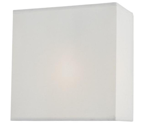 Dar Lighting Urmi White Faux Silk Shade Wall Light
