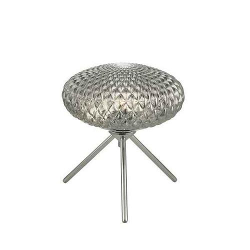 Bibiana Polished Chrome with Smoked Glass Small Table Lamp