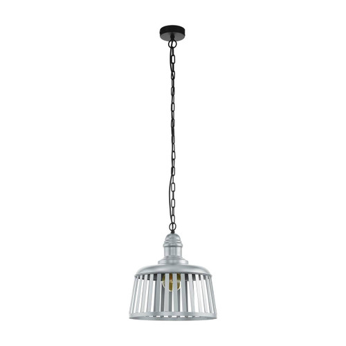 Eglo Lighting Wraxall Steel with Black Suspension Pendant Light