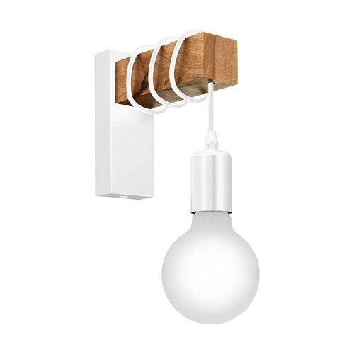 Eglo Lighting Townshend White with Wood Wall Light