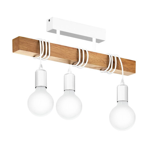 Eglo Lighting Townshend White with Wood Ceiling Light