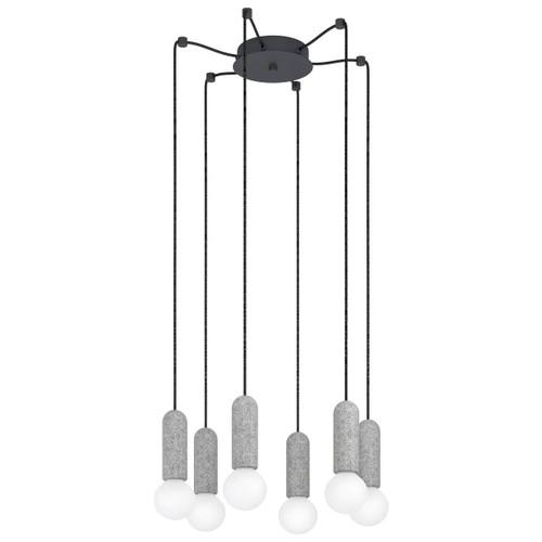 Eglo Lighting Giaconecchia 6 Light Grey with Anthracite Pendant Light