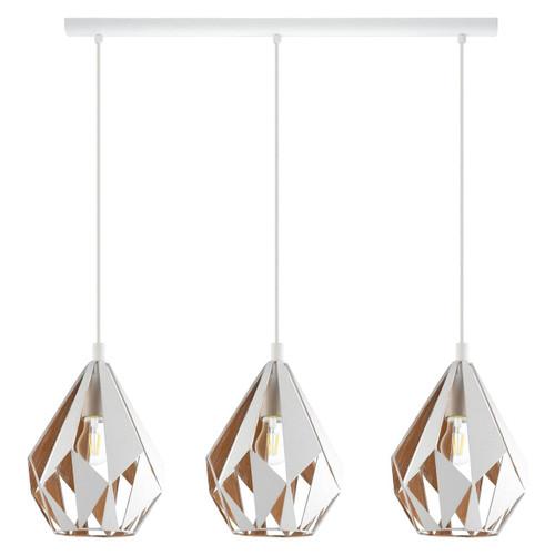 Eglo Lighting Carlton 1 3 Light White and Gold Bar Pendant Light