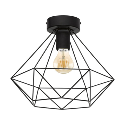 Eglo Lighting Tarbes Matt Black Steel Ceiling Light