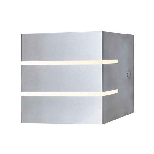 Cacheta Stainless Steel & Opal LED IP44 Outdoor Wall Light