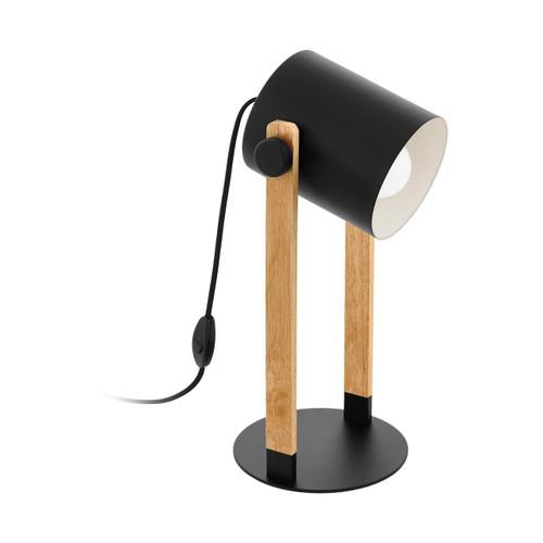 Eglo Lighting Hornwood Black with Wood Table Lamp