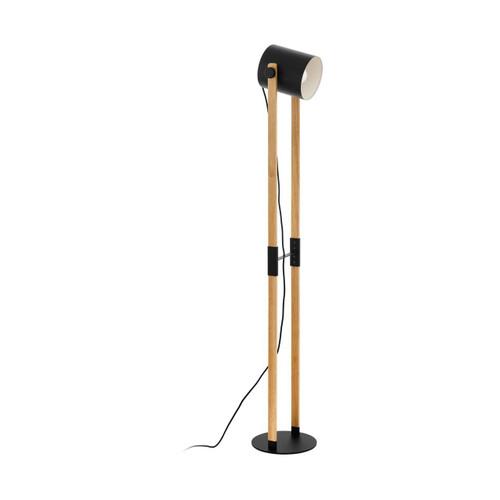 Eglo Lighting Hornwood Black with Wood Floor Lamp