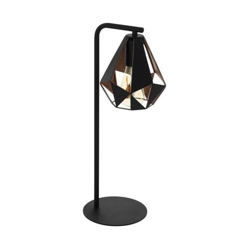 Eglo Lighting Carlton 4 Black with Copper Colour Antique Table Lamp
