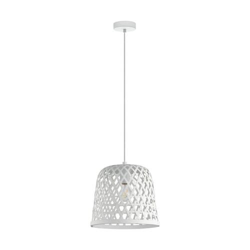 Eglo Lighting Kirkcolm White Shade Pendant Light