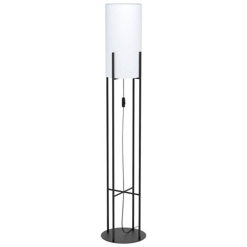 Eglo Lighting Glastonbury Black Steel with White Fabric Shade Floor Lamp