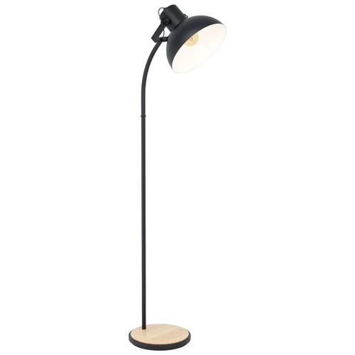 Eglo Lighting Lubenham Black Steel with Wood Floor Lamp
