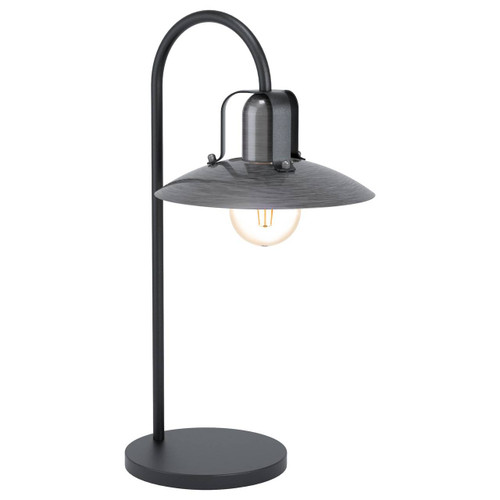 Eglo Lighting Kenilworth Black with Antique Nickel Shade Table Lamp