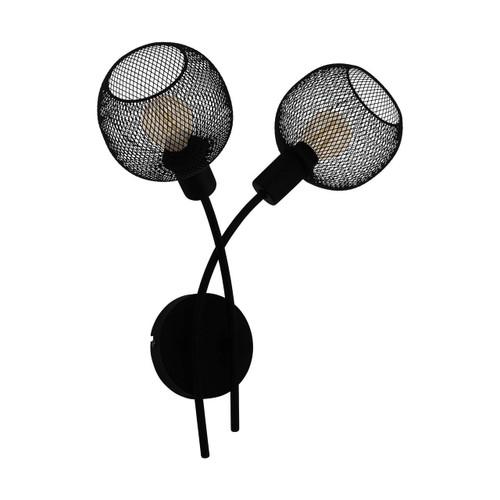 Eglo Lighting Wrington 2 Light Black Steel Wall Light