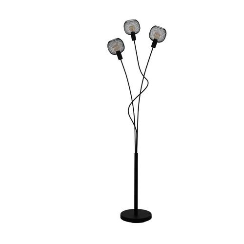 Eglo Lighting Wrington 3 Light Black Steel Floor Lamp