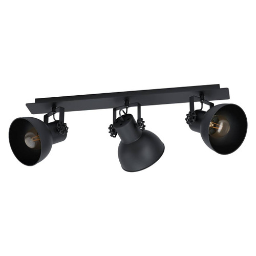 Eglo Lighting Barnstaple 1 3 Light Black Steel Bar Spot Light