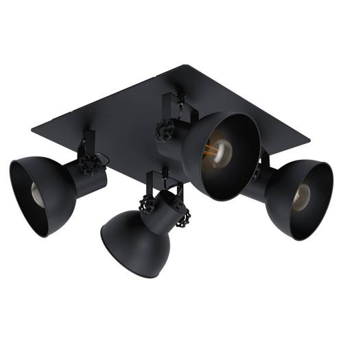 Eglo Lighting Barnstaple 1 4 Light Black Steel Plate Spot Light