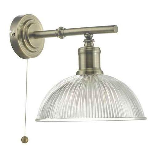 Dara Antique Brass & Glass Wall Light