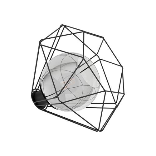Eglo Lighting Vernham Black with Clear Black Vaporized Glass Shade Table Lamp