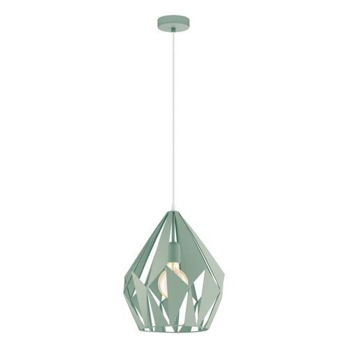 Eglo Lighting Carlton P Light Green Steel Pendant Light