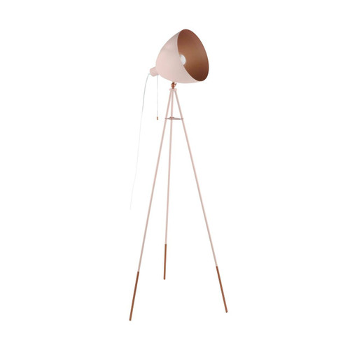 Eglo Lighting Chester P Apricot and Copper Coloured Steel Floor Lamp