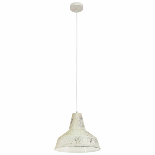 Eglo Lighting Somerton Limed White Coloured Steel Pendant Light