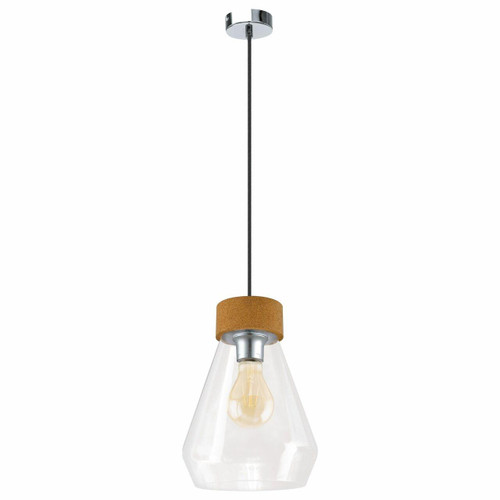 Eglo Lighting Brixham Polished Chrome with Clear Glass Shade Pendant Light