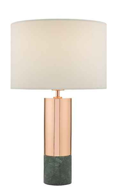 Digby Copper and Green with Shade Table Lamp