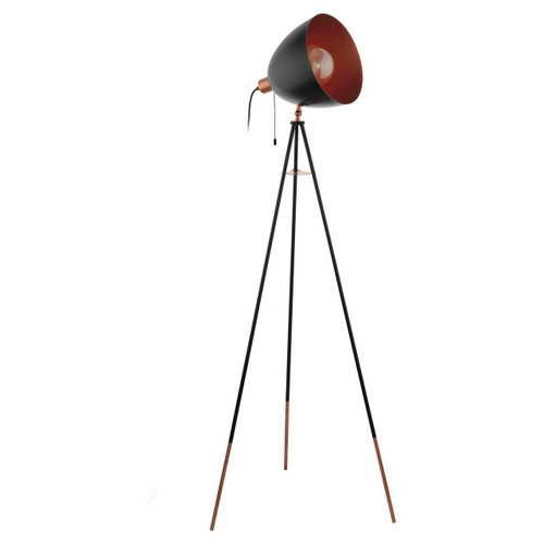 Eglo Lighting Chester Black and Copper Coloured Steel Adjustable Floor Lamp
