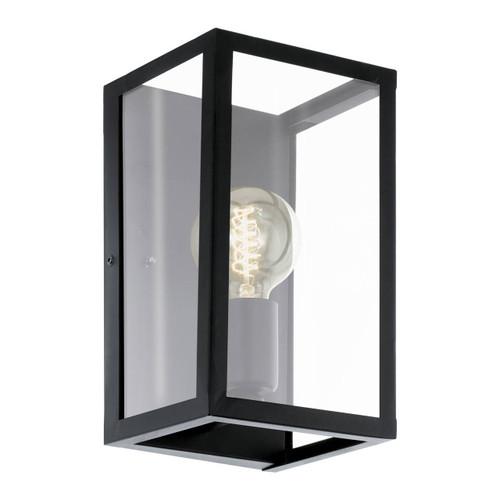 Eglo Lighting Charterhouse Black Steel with Clear Glass Shade Wall Light
