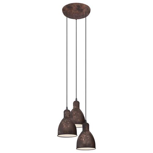 Eglo Lighting Priddy 1 3 Light Antique Copper Finish Pendant Light