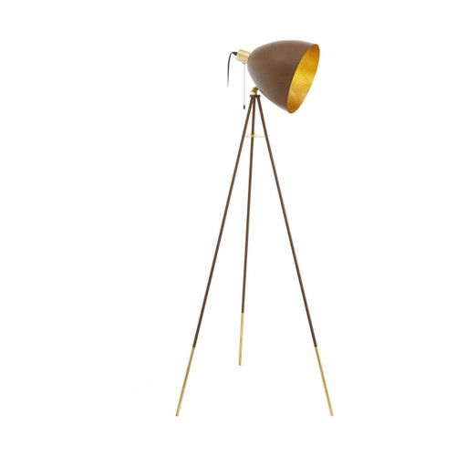 Eglo Lighting Chester 1 Rust Finish with Gold Floor Lamp