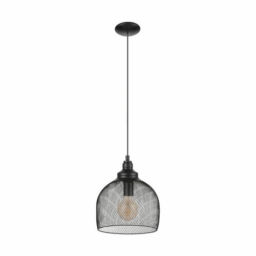Eglo Lighting Straiton Black Finish Caged Pendant Light