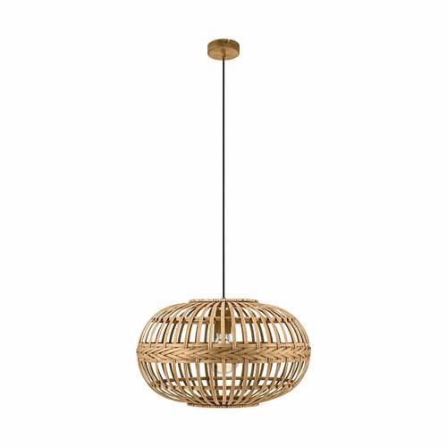 Eglo Lighting Amsfield Medium Oval Bamboo Shade Pendant Light