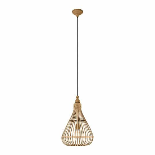 Eglo Lighting Amsfield Medium Teardrop Bamboo Shade Pendant Light