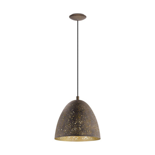 Eglo Lighting Safi Brown and Gold Coloured Small Pendant Light