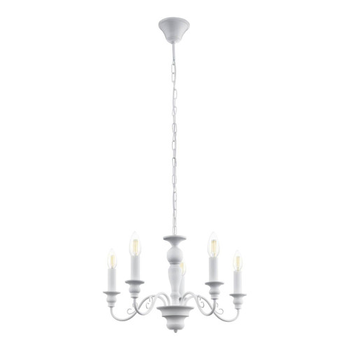 Eglo Lighting Caposile 5 Light White Steel Chandelier