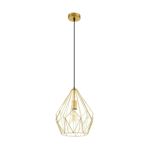 Eglo Lighting Carlton Gold Coloured Pendant Light