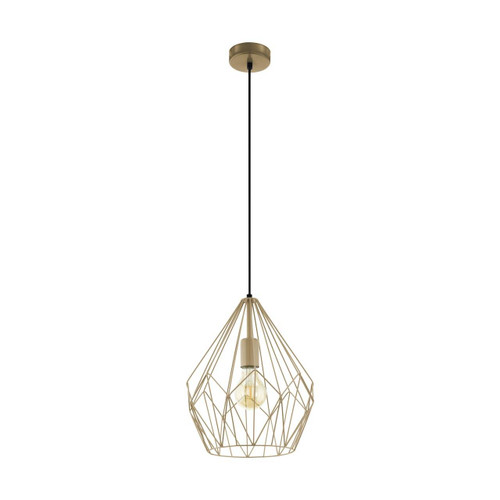 Eglo Lighting Carlton Orange Gold Pendant Light