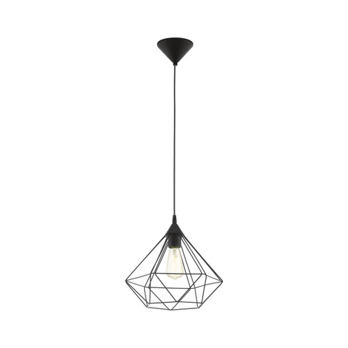 Eglo Lighting Tarbes Black with Medium Black Shade Pendant Light