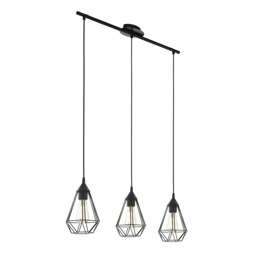 Eglo Lighting Tarbes 3 Light Black Caged Bar Pendant Light