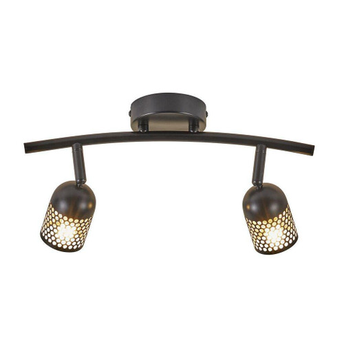 Nordlux Alfred 2 Light Black Adjustable Bar Spotlight