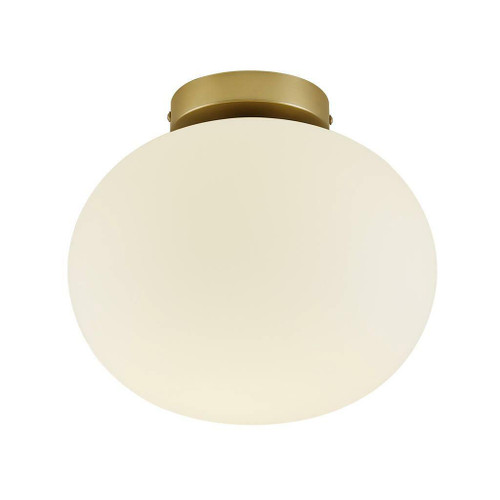 Nordlux Alton Brass with White Opal Glass Ceiling Light