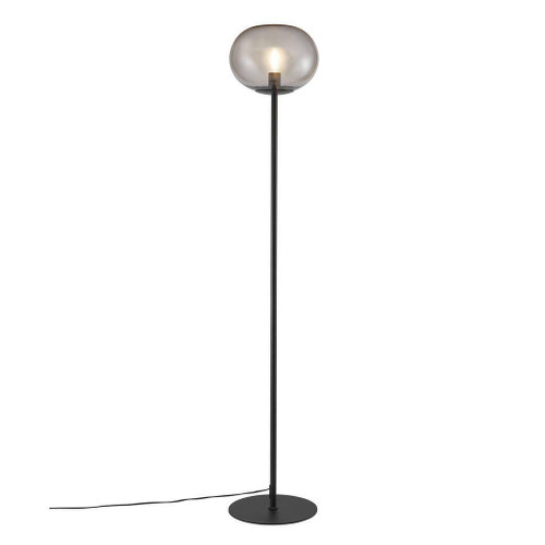 Nordlux Alton Black with Smoked Glass Floor Lamp