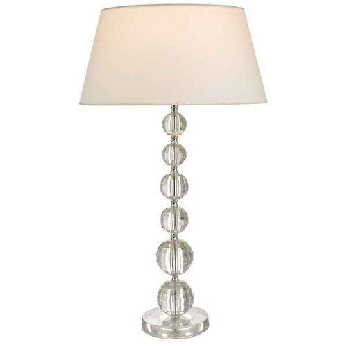 Epona Clear Acrylic with White Cotton Shade Table Lamp