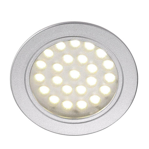 Nordlux Cambio 2W Silver with Clear Glass Recessed Furniture Downlight