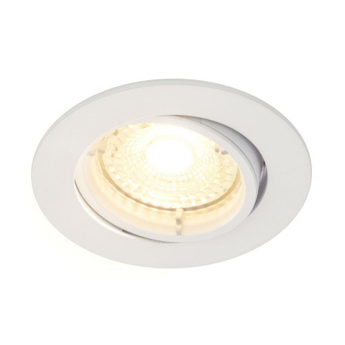 Nordlux Carina 2700K Single Dimmable Tilt White Round Recessed Downlight