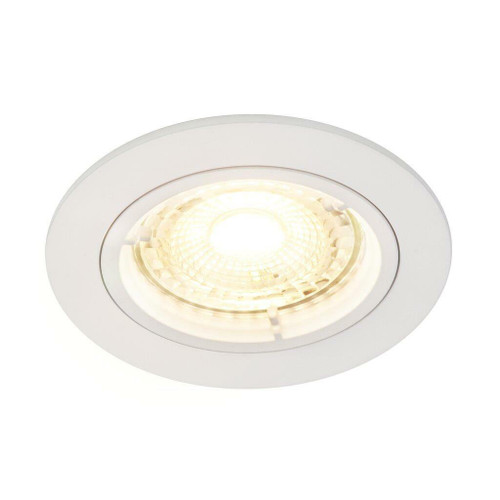 Nordlux Carina 2700K Three Pack Dimmable White Round Recessed Downlight