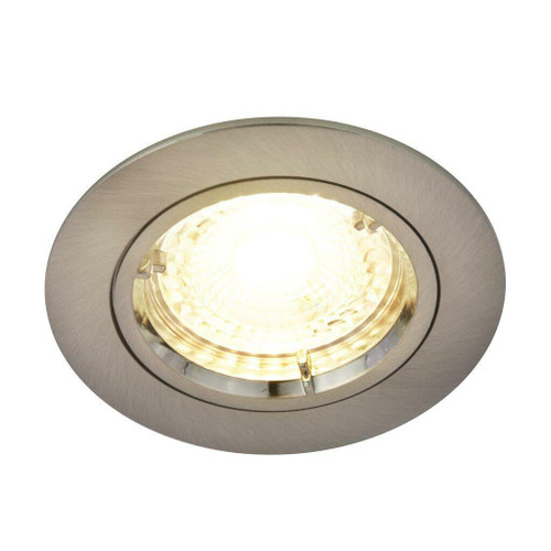 Nordlux Carina 2700K Three Pack Dimmable Nickel Round Recessed Downlight